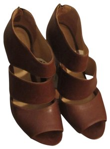 mieko mellucci Leather Wedge Heels brown Wedges