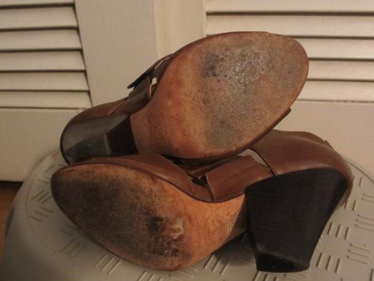 mieko mellucci Leather Heels brown Wedges
