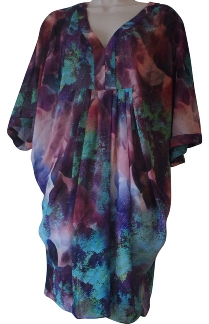 Preload https://item2.tradesy.com/images/multicolored-purple-sleeve-v-neck-tunic-above-knee-short-casual-dress-size-4-s-4385131-0-0.jpg?width=400&height=650