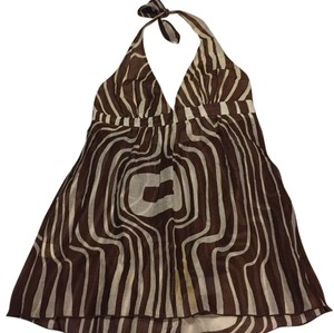 Trina Turk Top Brown and white