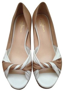 Cole Haan Beige/White Wedges
