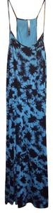 Blue and Black Tie Dye Maxi Dress by Kensie