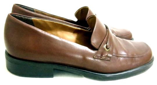 Naturalizer Leather Slip-on Loafers Brown Flats