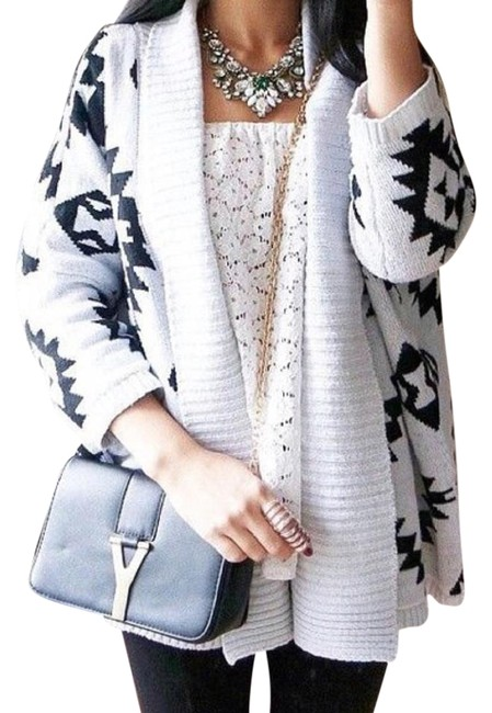 Preload https://item1.tradesy.com/images/beige-tribal-cardigan-size-os-one-size-4386880-0-2.jpg?width=400&height=650