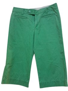 Gap Casual Comfortable Bright Capris Green