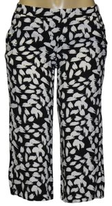 Ella Moss Capri/Cropped Pants white/black