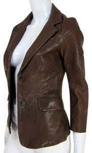 Elizabeth and James Brown Leather Jacket