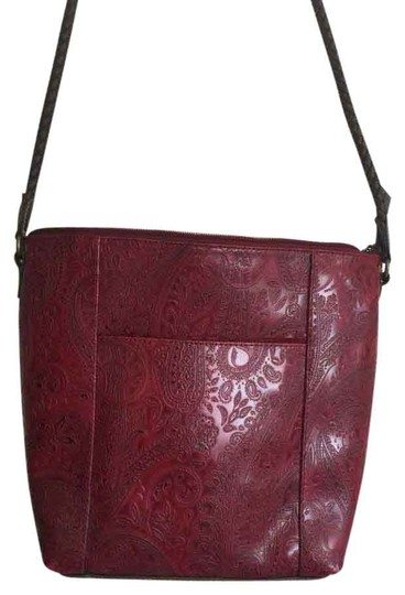 Preload https://item1.tradesy.com/images/relic-strap-red-imprinted-leather-shoulder-bag-4387000-0-0.jpg?width=440&height=440