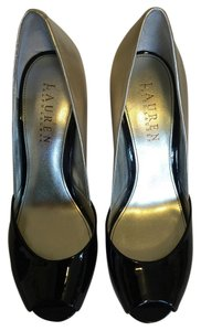 Ralph Lauren Black & lt.gold Pumps