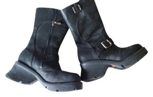 Harley Davidson Motorcycle Bike Black Boots