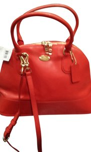 Coach Satchel in Cardinal/ Red