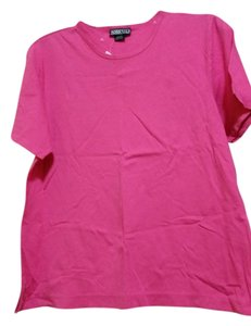Lands' End Comfortable Casual Classic T Shirt Pink