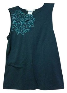 Old Navy Embroidered Classic Comfortable Sleeveless Stretchy Top Navy