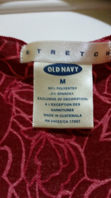 Old Navy Comfortable Casual Stretchy Flowy Floral Empire Waist Top Red