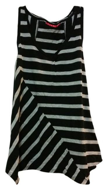 Elle Striped Top Black and Gray