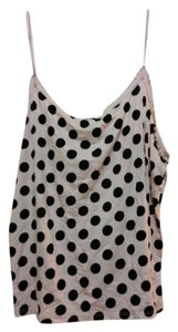 Gap Soft Comfortable Dot Modal Top Pale Pink with Black Polka Dots
