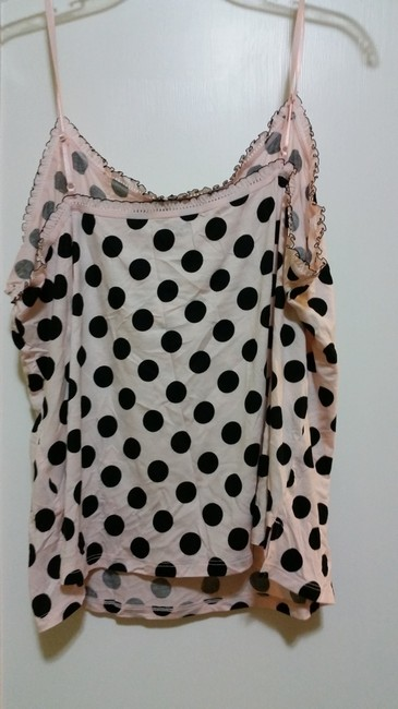 Gap Camisole Top Black and Pink with Black Dots