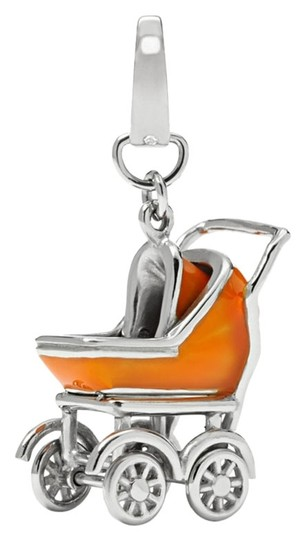 Fossil Fossil Brand Baby Carriage Charm JF01181