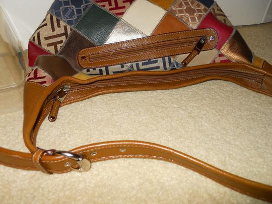 Tignanello Leather Patchwork Hobo Bag