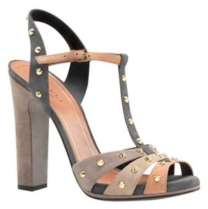 Gucci Leather Suede Strappy Monogram Studded New In Box Heels Pumps High Jacquelyne Multi Colored Sandals