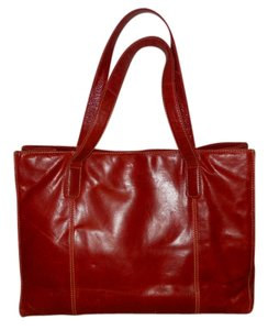 Wilsons Leather Tote in dark red