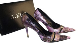 J . KUO Purple Black Gold Formal