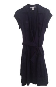 Diane von Furstenberg short dress Blue 100 5 Cotton on Tradesy