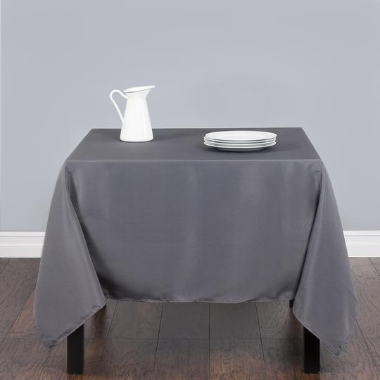 (1) 70x70 Charcoal Polyester Square Tablecloth