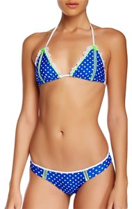 Beach Bunny Haute Hot Dot Blue White Polka Dot Bikini