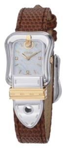 Fendi Two-tone Stainless Steel & Diamond Leather-strap Buckle Watch