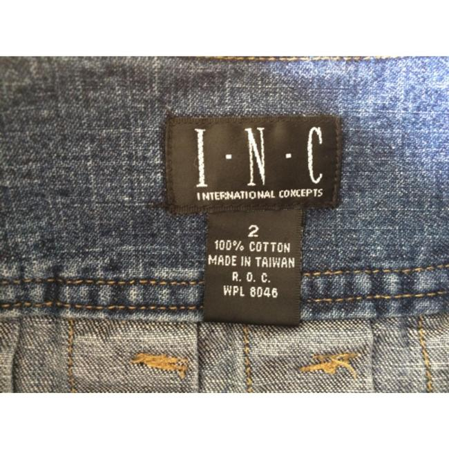 INC International Concepts Mini Skirt Denim