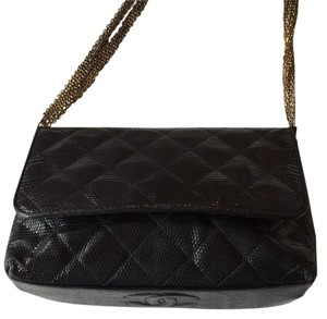Chanel Vintage Snakeskin Lizard Shoulder Bag