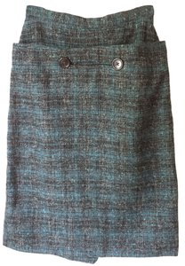 Tweed Tweed Skirt Blue black