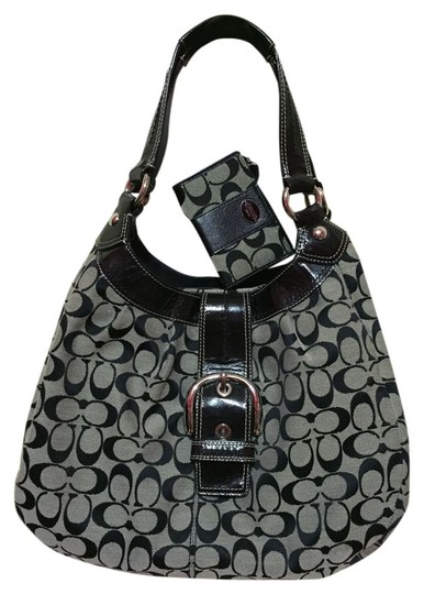 Preload https://item3.tradesy.com/images/coach-maggie-madison-signature-monogram-black-and-gray-canvas-leather-shoulder-bag-4389412-0-0.jpg?width=440&height=440