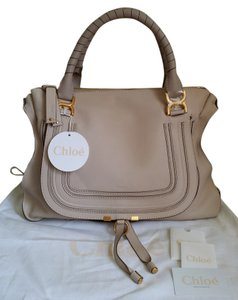 Chloé Satchel in Abstract White