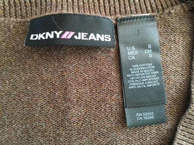 DKNY Sequins Cropped Small Flowers Jeans Sweater