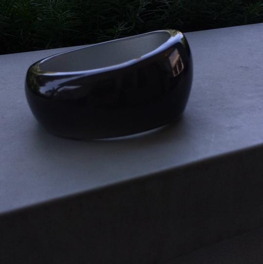 Other Chunky Charcoal Lucite (?) Bangle
