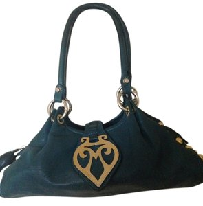 Moschino Fall Winter Satchel in Turquoise