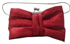 Betsey Johnson Red Shimmer Clutch