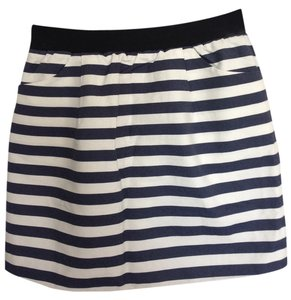 Pim + Larkin Skirt Blue and white stripe