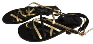 A.P.C. Black and gold Sandals