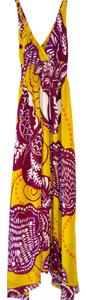 Maxi Dress by Aryeh Maxi Maxi Purple Yellow Lime Ivory Date Night Floral Leaf