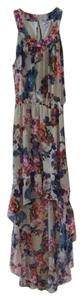 Multi. White Pink Orange Blue Purple Maxi Dress by Bar III