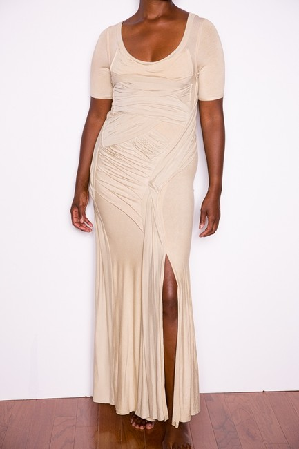 Donna Karan Draped Jersey Collection Sexy Dress