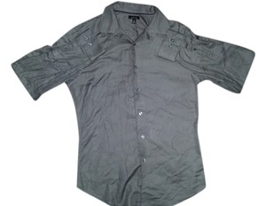 Apt. 9 Button Up Button Down Mens Button Down Shirt Gray