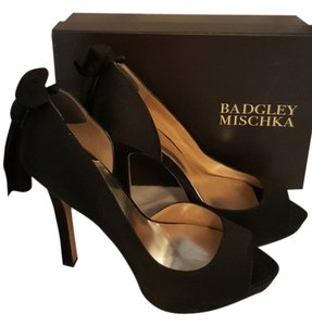 Badgley Mischka Heels Ultra High black satin Formal