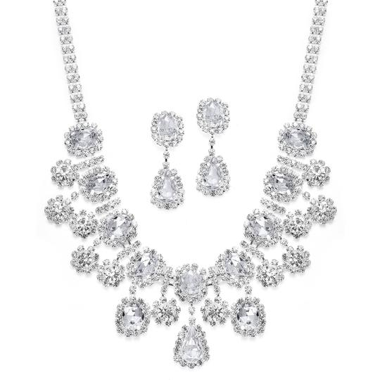 Preload https://item2.tradesy.com/images/diamondsilk-whitesilver-bling-bling-oval-with-floral-dangles-necklace-43911-0-0.jpg?width=440&height=440
