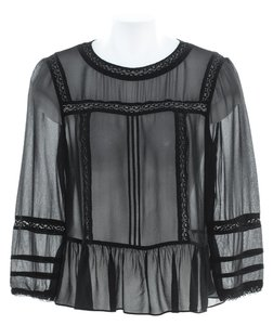 Karen Millen Bohemian Chic Sheer Top black