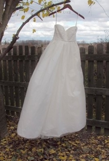 David's Bridal Ivory Tulle Vw351071 Vera Wang White Vintage Wedding Dress Size 6 (S)
