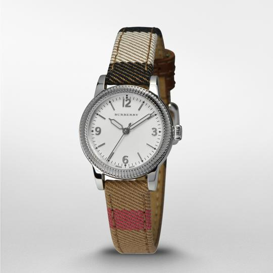 Burberry Burberry Women's The Utilitarian Canvas & Leather Check Watch BU7863